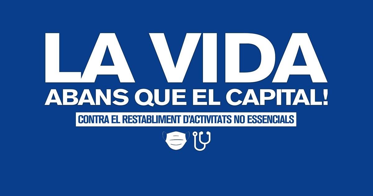 La CUP insta al Govern de la Generalitat a desobeir i anar més enllà de la queixa davant un estat espanyol que ha triat l'economia enfront la vida
