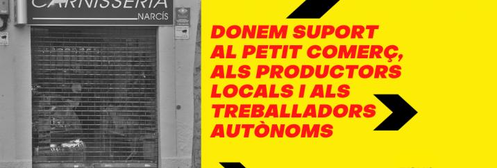 La CUP demana a la Diputació que activi el suport al petit comerç, als productors locals i als treballadors autònoms de comarques gironines
